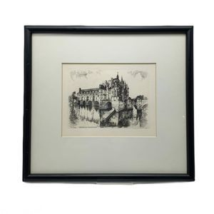 Vintage Leopald Robin Small Print French Chateau